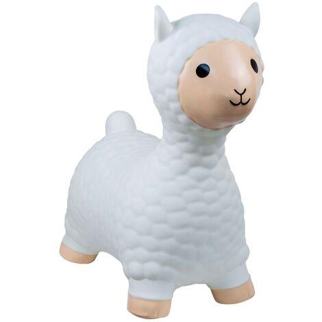 My Skippy Buddy Bouncy Animal Alpaca White