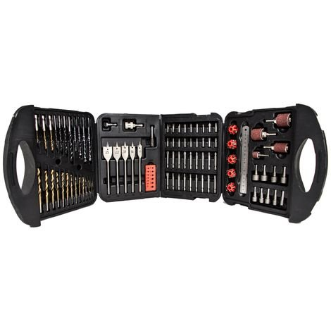 Mylek 18V Cordless Drill + 118 pc Drill Bit Accessory Set