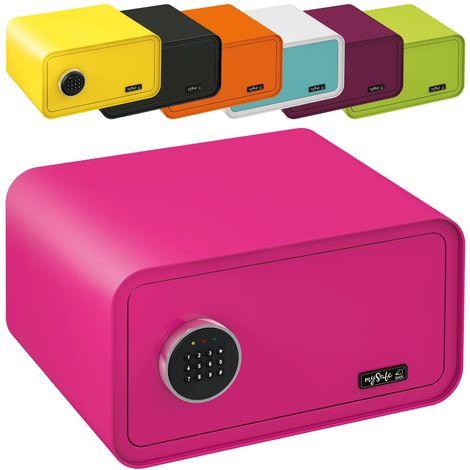 MySafe Tresor Design Safe 230 x 430 x 350 mm (HxBxT) Zahlencode Schloss verschiedene Farben grün, lila, pink, blau / wei