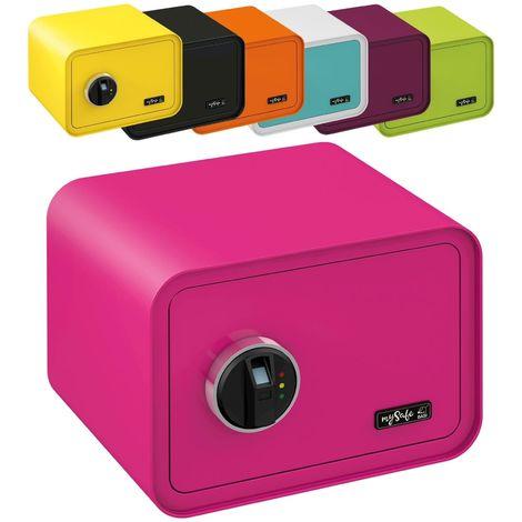 MySafe Tresor Design Safe 250 x 350 x 280 mm (HxBxT) Fingerabdruck Schloss verschiedene Farben grün, lila, pink, blau