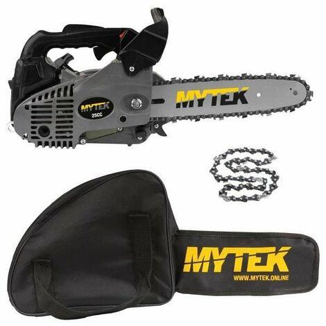 MYTEK Pack Elagueuse 25cm 25cc - 2e Chaîne et Housse incluses