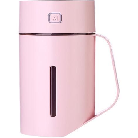 N ¡ã 1 tasse LED humidificateur USB Home Office Spray purificateur d'air humidificateur grande capacite 420 ml rose et avec batterie