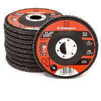 N-Durance 115 x 22 - 40 Grit Aluminium Oxide Flap Disc - Pack 10