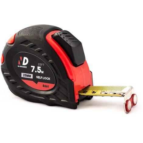 N-Durance 7.5 Metre Easy Read Magnetic Tape Measure