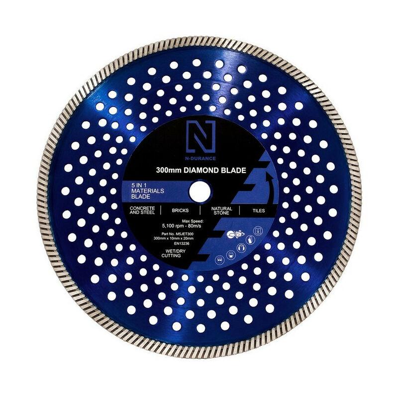 Image of N-Durance Diamond Multi Purpose 5 in 1 Blade 300 x 20.0mm
