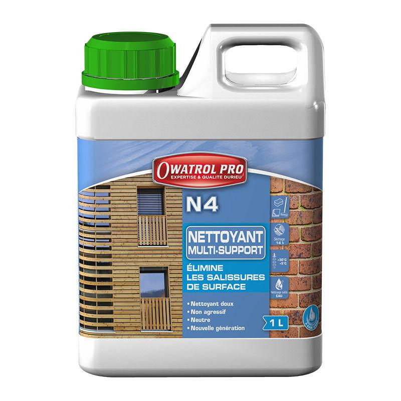N4 : nettoyant dégraissant tous bois - 10 L - Owatrol - Incolore
