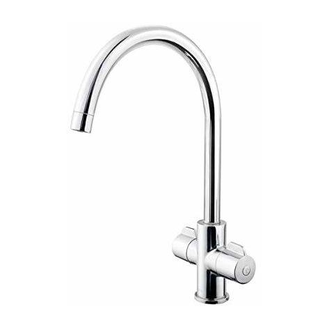 "Nabis"" Sevier"" Modern Swing Contemporary Swivel Spout Kitchen Sink Mixer Tap | Polished Chrome | Ceramic Disc Valve"