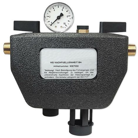 Nachfüllkombination Typ BA - DN 15 - 1/2'' - nach DIN EN 1717 - für das Befüllen von Heizungsanlagen