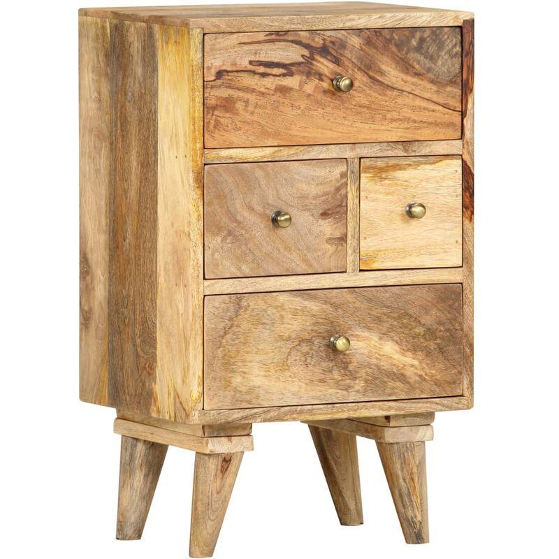Nachttisch 36 x 30 x 60 cm Massivholz Mango - ZQYRLAR