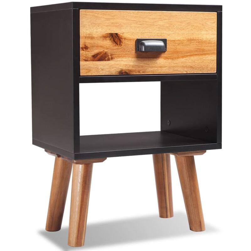 Zqyrlar - Nachttisch Akazienholz Massiv 40x30x58 cm