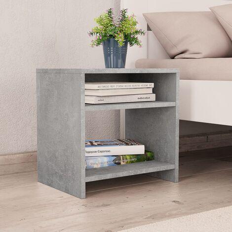 Nachttisch Betongrau 40 x 30 x 40 cm Spanplatte -