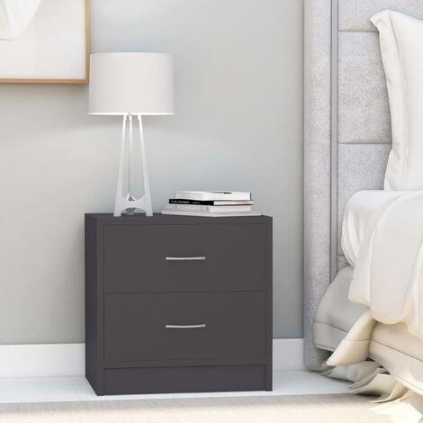 Nachttisch Grau 40 x 30 x 40 cm Spanplatte