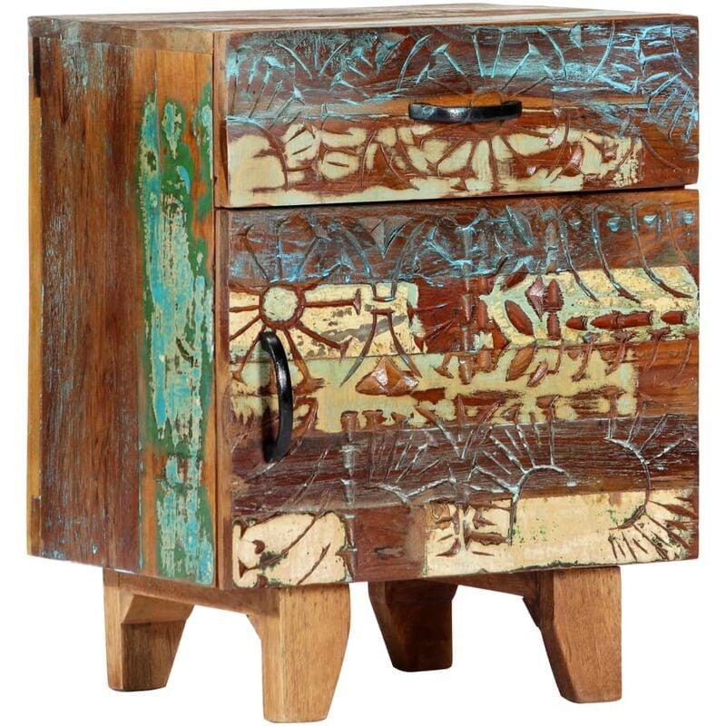 Nachttisch Handgeschnitzt 40×30×50 cm Recyceltes Massivholz - VIDAXL