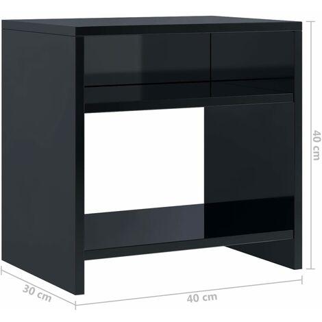 Nachttisch Hochglanz-Schwarz 40 x 30 x 40 cm Spanplatte -