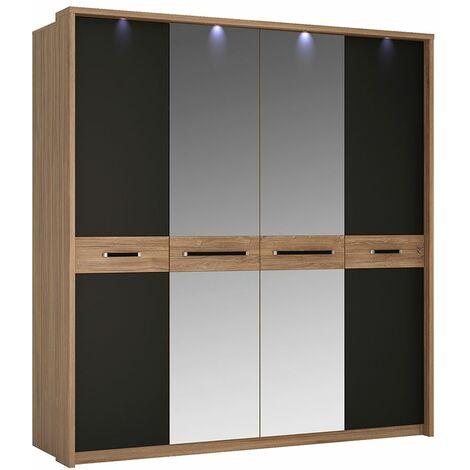 """main image of """"Naco Four Door Wardrobe Mirror Doors Concealed Lights"""""""