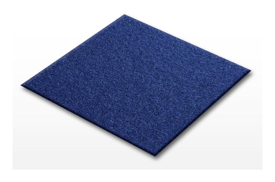 Nadelfilz Teppichfliesen Scene 40 x 40 cm blau fd 4351
