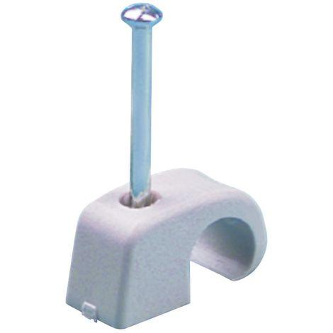 Nagelschelle f.D.7-12mm Nagel 2x30mm m.Stahlnagel 100St./Krt.