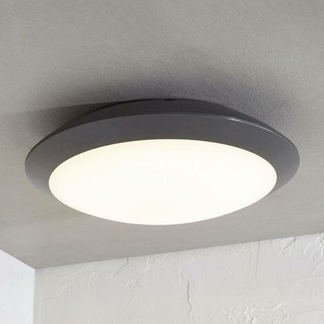 Naira LED outdoor ceiling lamp grey without sensor