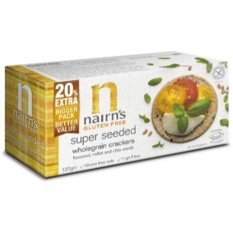 Nairns Gluten Free Super Seeded Wholegrain Crackers - 137g - 91445