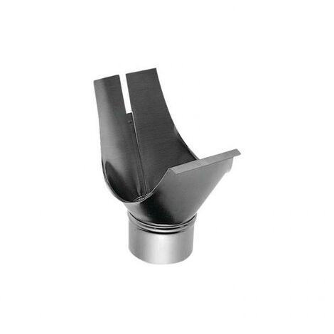 Naissance agrafable zinc Ø 80 mm gouttière section 33 B18