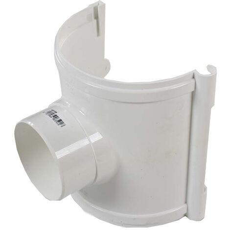 Naissance centrale avec support Bi-system PVC 33 demi-ronde - Blanc