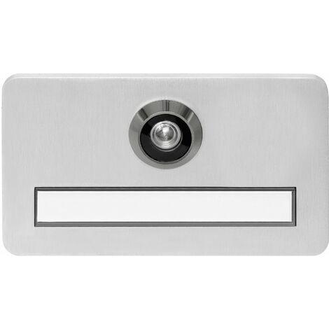 Namensschild mit Spion ø 14 mm, brandschutztauglich