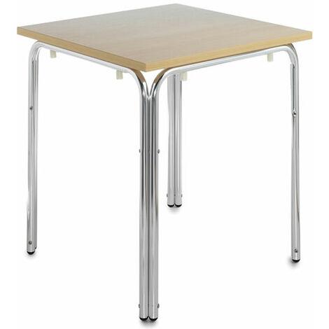 Nan Square Stacking Dining Table Wood And Aluminium