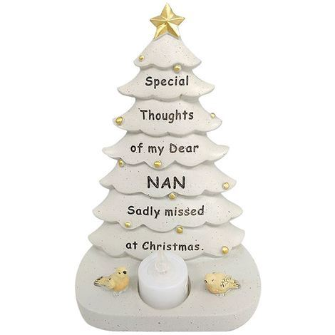 Nan Xmas Tree With Flickering Light 14.5 x 19.5 x 9 cm