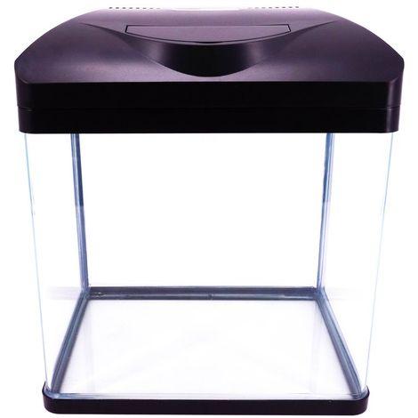 """Nano Aquarium Laguna in schwarz """"inklusive Dekoration"""""""