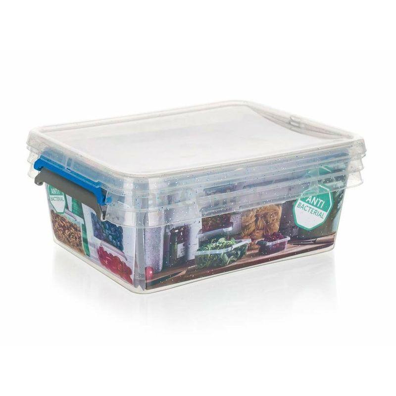 Nano Box Set 2x 1,15 Liter antibakteriell mit Deckel
