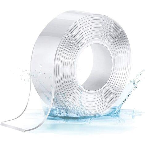 Nano Tape, Ruban Adhésif Double Face Multifonctionnel Nano Antidérapant Transparent Traceless Double-Face Gel Clear Tape Lavable Réutilisable Ruban Adhésif Pour Maison2MM*3CM*5M