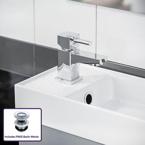 Nanuya 400 mm Wall Hung Light Grey Vanity Cabinet with Mixer Tap Set