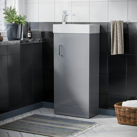 "main image of ""Nanuya 400mm Cloakroom Vanity Basin Unit Light Grey"""