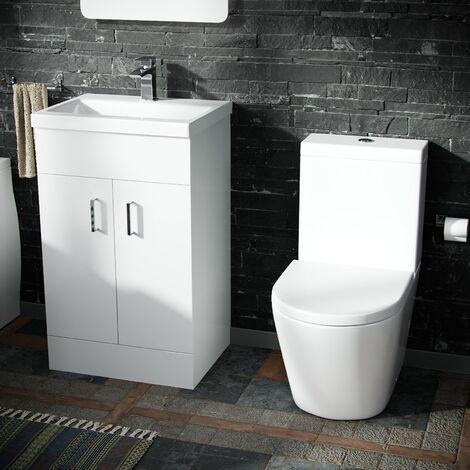 Nanuya 500 Basin Vanity & WC Toilet Pan