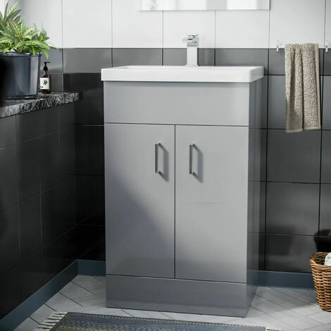 Nanuya 500 mm Light Grey Basin Vanity Unit