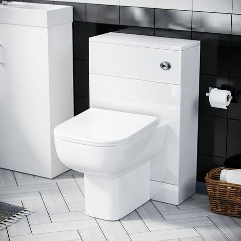 "main image of ""Nanuya 500mm WC Unit, Cistern & Debra Back To Wall Toilet Pan White"""