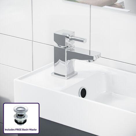 Nanuya Grey Vanity Cabinet and Mixer Tap Set
