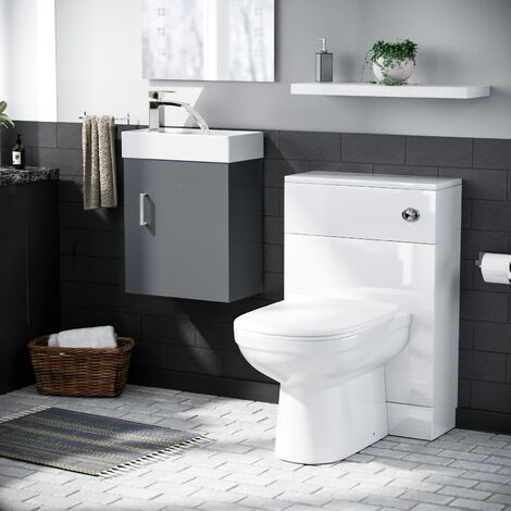 Nanuya Vanity Unit and BTW Toilet WC Cistern Set