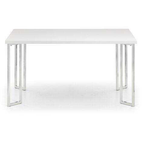 Naomi HI GLOSS & CHROME DINING TABLE 150cm x 90cm