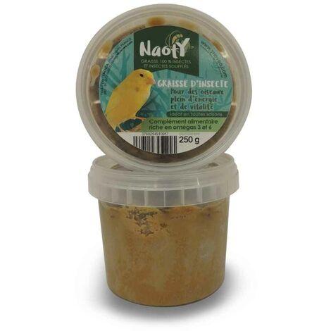 Naoty - Aliment Mix Graisse 100% Insectes pour Oiseaux - 250g