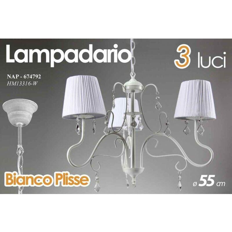 Nap/Lampad 3L Bianco Plisse Hm13316/W - ARGONAUTA
