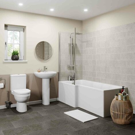 Naples L Bathroom Suite - Left Hand
