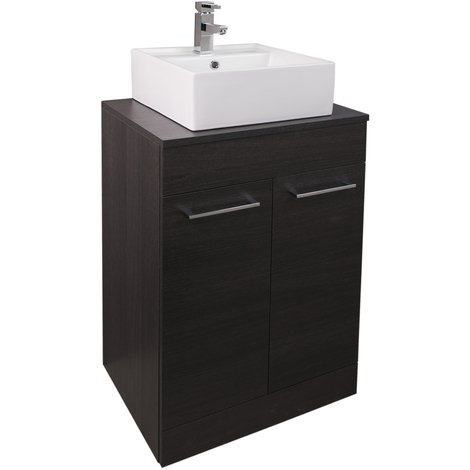 Napoli Black Oak 2 Door 600 Unit & Top