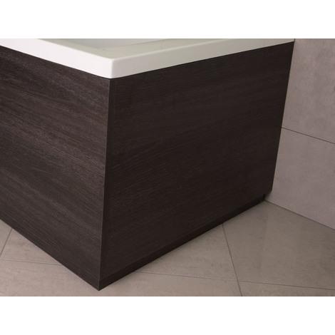 Napoli Black Oak 750mm End Bath Panel