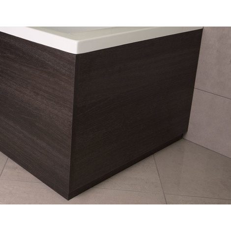 Napoli Black Oak 800mm End Bath Panel