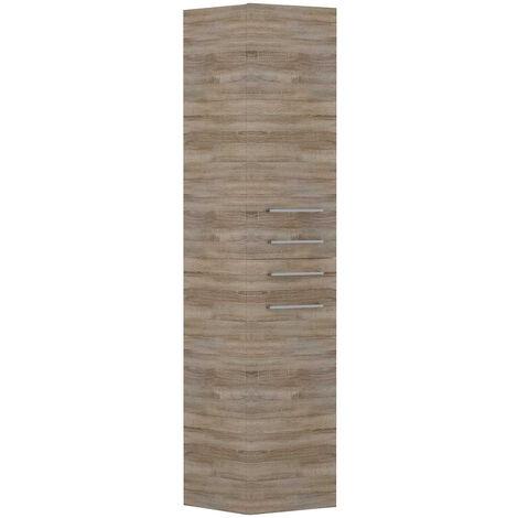 Napoli Bordalino Oak 2 Door & 2 Drawer Tall Unit