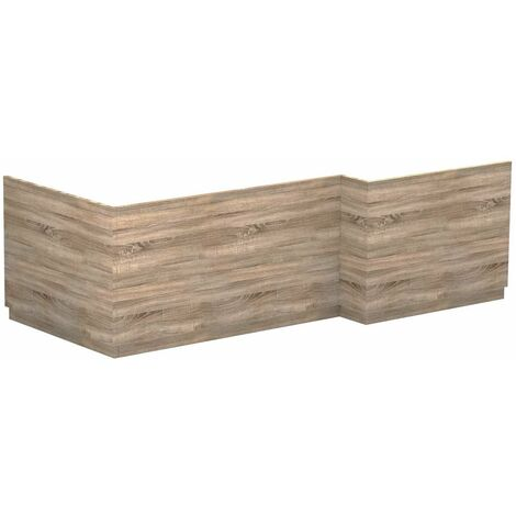 Napoli Bordalino Oak L Shaped Bath Front & End Panel