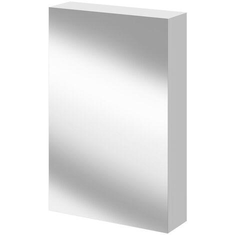 Napoli Gloss White 500 Mirror Wall Cabinet