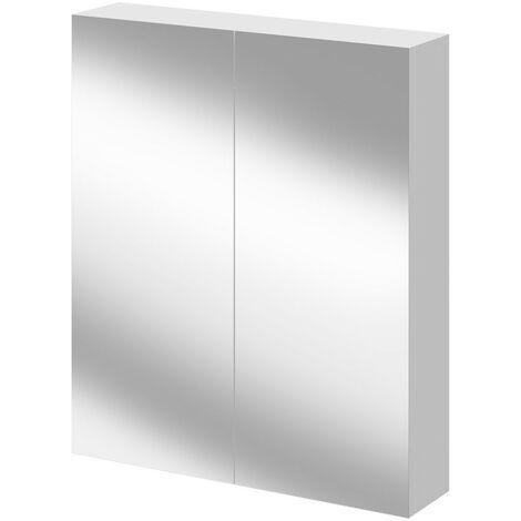 Napoli Gloss White 600 Mirror Wall Cabinet