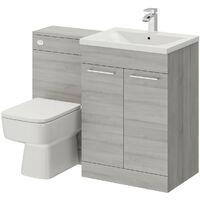 Napoli Molina Ash 1100mm 2 Door Vanity Unit Toilet Suite